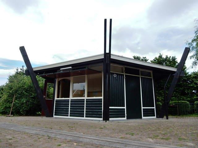 """Luxe Trekkershut """"Haverhoek"""" te Hoedekenskerke - Hoedekenskerke - Ξυλόσπιτο"""
