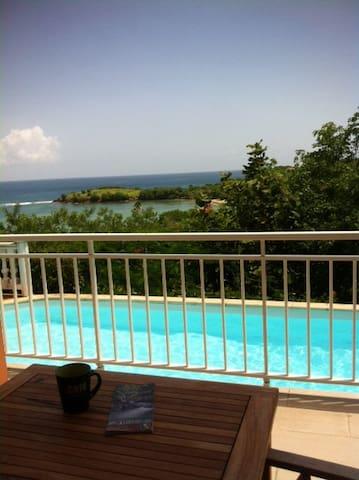 Magnifique vue mer, accès direct piscine et plage - Arrondissement of La Trinité - Dom