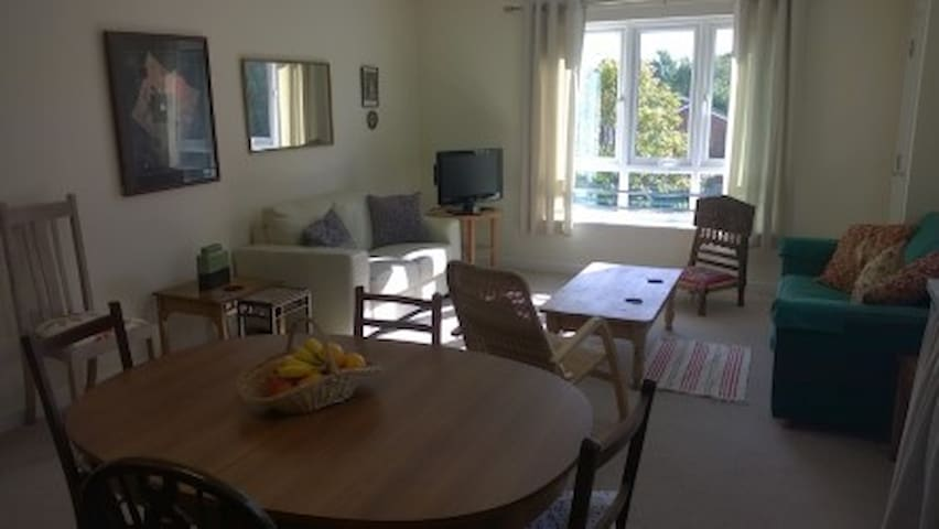 comfort. room in friendly modern flat- 20 m.London - Hersham - Appartement