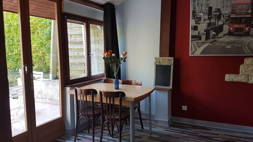 2/3 pièces avec terrasse, en rez de jardin - Germaine - Departamento