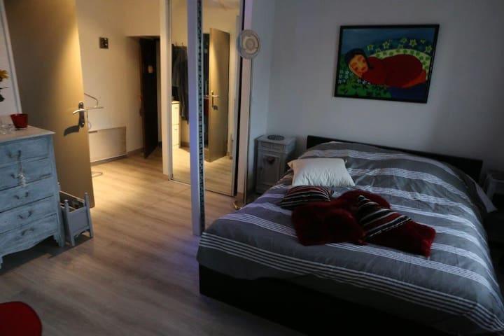 studio  moderne  et confortable avec mezzanine - Tourlaville - Huis