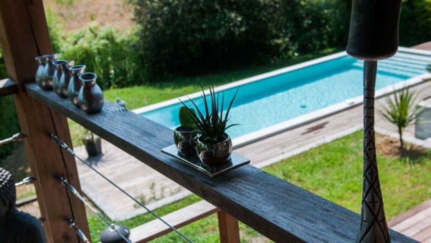 Villa climatisée avec piscine design et jacuzzi - Tercis-les-Bains - Villa
