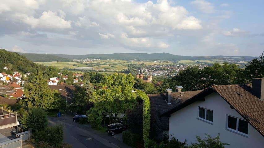 Südhang Fernblick über Gelnhausen - Gelnhausen - Lägenhet