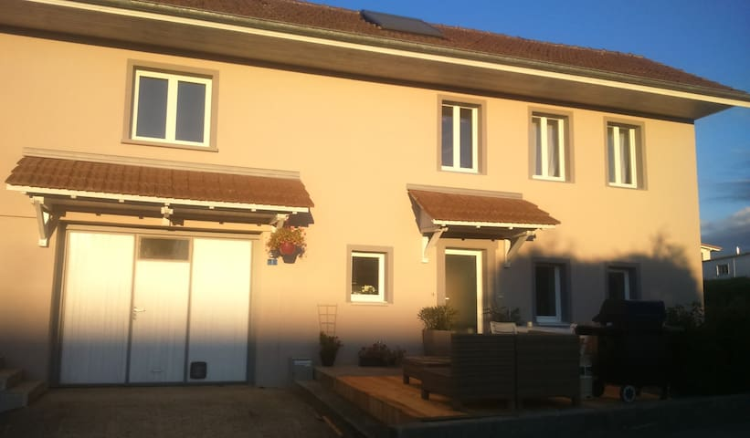 Charming flat at 1.5km of Portalban's beach - Delley - Appartement