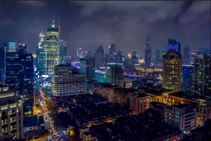 顶楼,两个阳台PENTHOUSE LOFT可以看到豫园和外滩, Yuyuan Garden Bund - Shanghái - Departamento