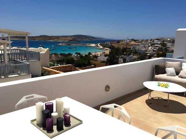 Modern apartment with sea view - Koufonisia - Departamento