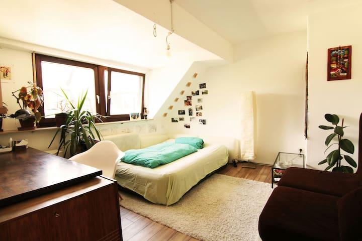Cozy room in beautiful attic flat, central - Trier - Lägenhet