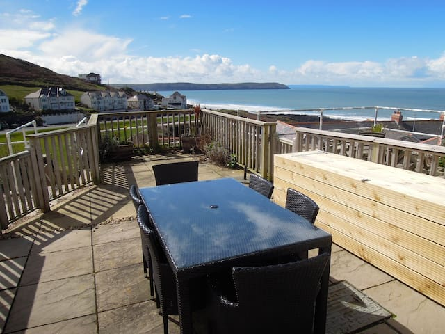 Modern Woolacombe house with stunning sea views - Mortehoe Woolacombe - Casa