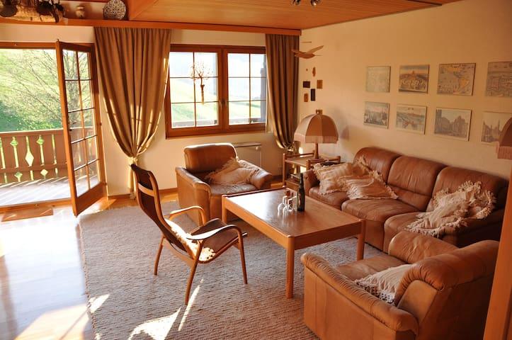 Sunny apartment right next to the mountains (6Prs) - Marbach - Loma-asunto