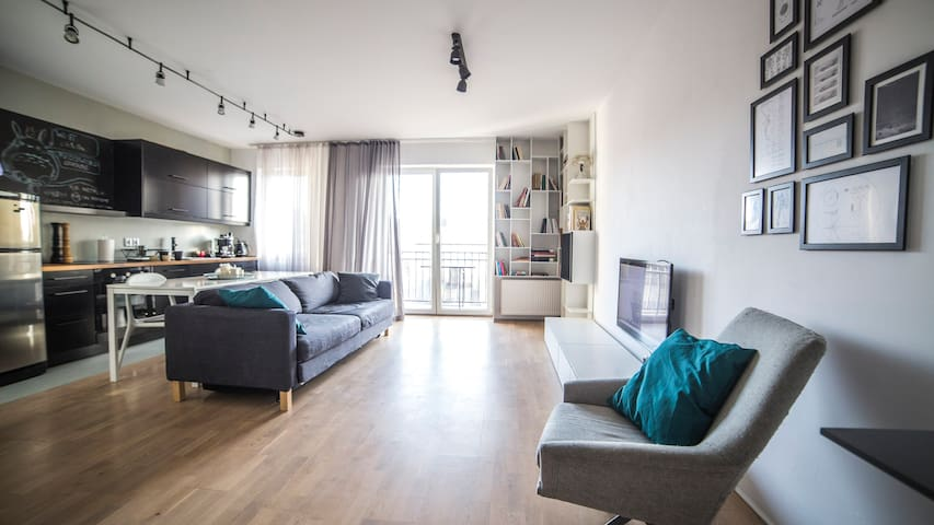 Modern Apartment + parking - Poznań - Departamento
