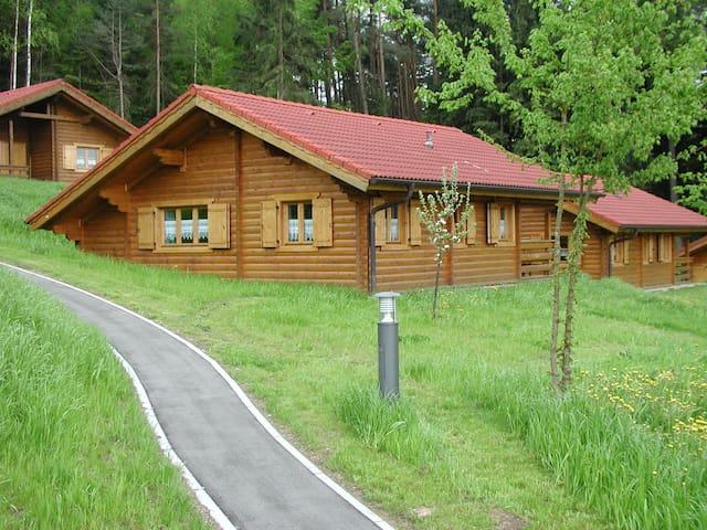 schönes Blockhaus am Waldrand im Naturerlebnispark - Stamsried - Huis
