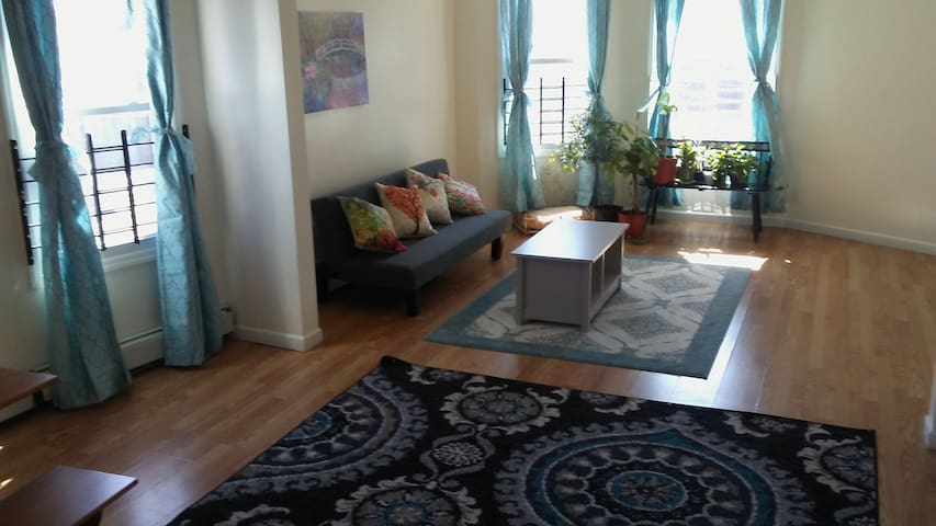 Large, Sunny 3 Bdrm Apartment for 8+ Close to NYC - Newark - Appartement