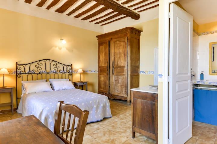 Chambre d'hôtes avec vue dans Bâtisse du XVIIIe - Venasque - Bed & Breakfast