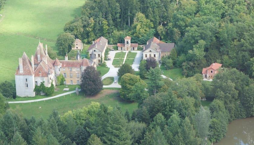 13ha estate with midieval castle, near Beaune,  D - Saint-Martin-de-Commune