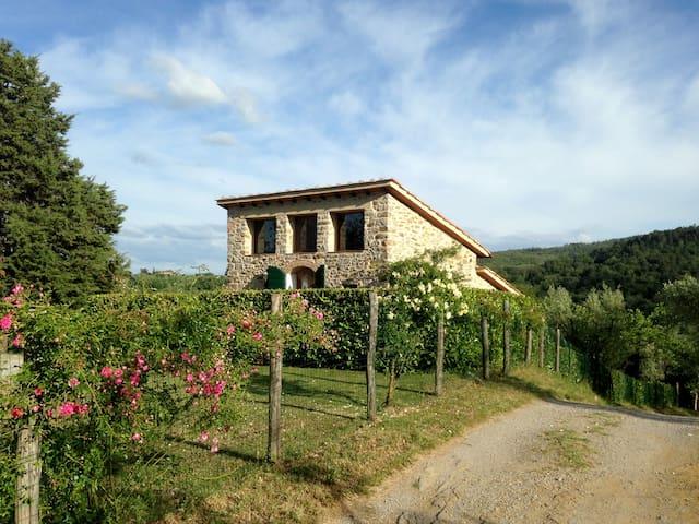 Il Fienile, stone cottage for 2, with pool - Cavriglia - 獨棟