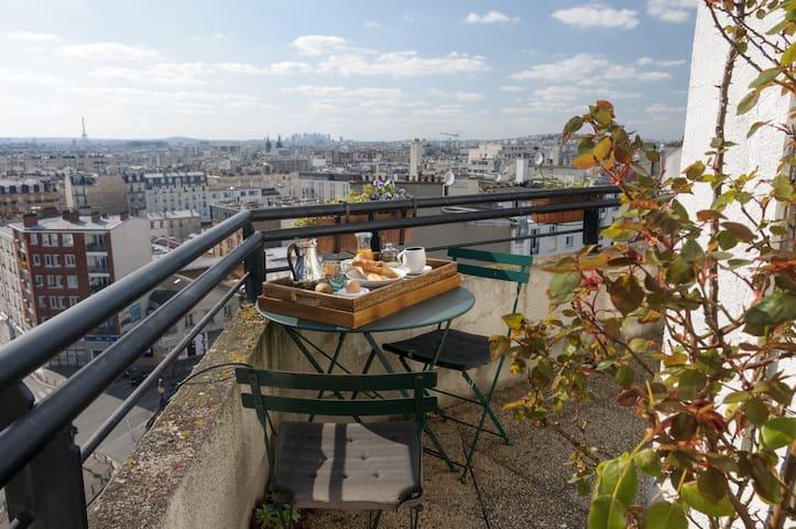 Apt with panoramic view of Paris - Pariisi - Huoneisto