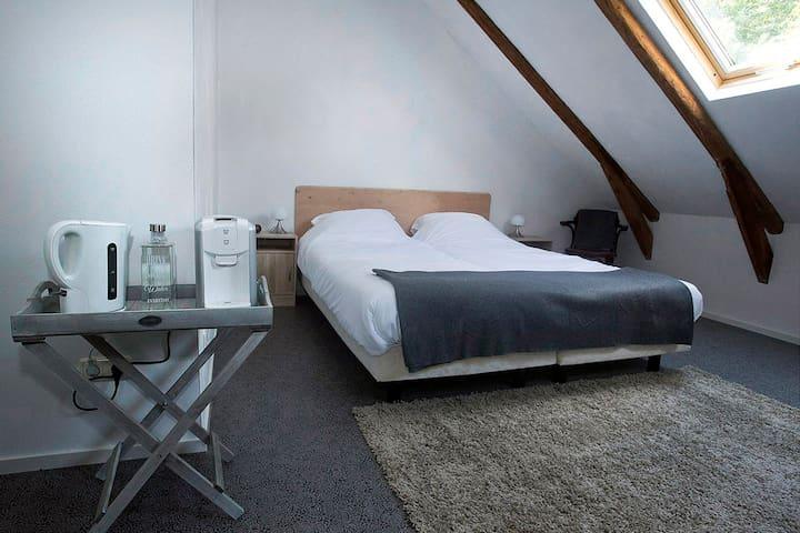 """""""Champagne""""kamer in B&B Oosterbroek - Noordbroek - 家庭式旅館"""
