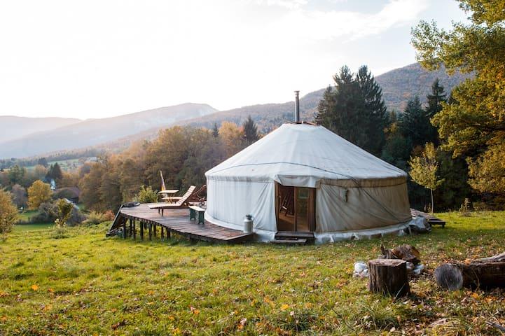 A quiet yurt  in Savoie - Bauges - Bellecombe-en-Bauges - Yurt