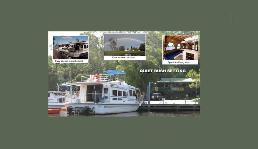 Houseboat Stay  45' for 2-10 people - Bulahdelah - Barco