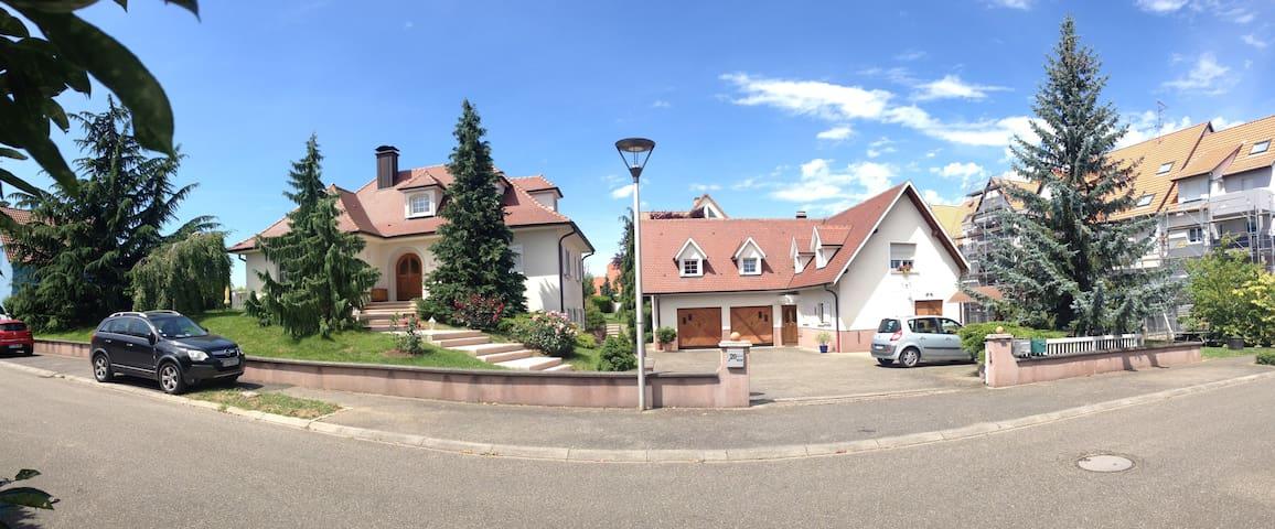 Chambre et SDB privée / campagne proche Strasbourg - Bischoffsheim - Appartement