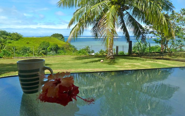 Tahiti Iti - With a view on the lagoon - Toahotu  - Casa