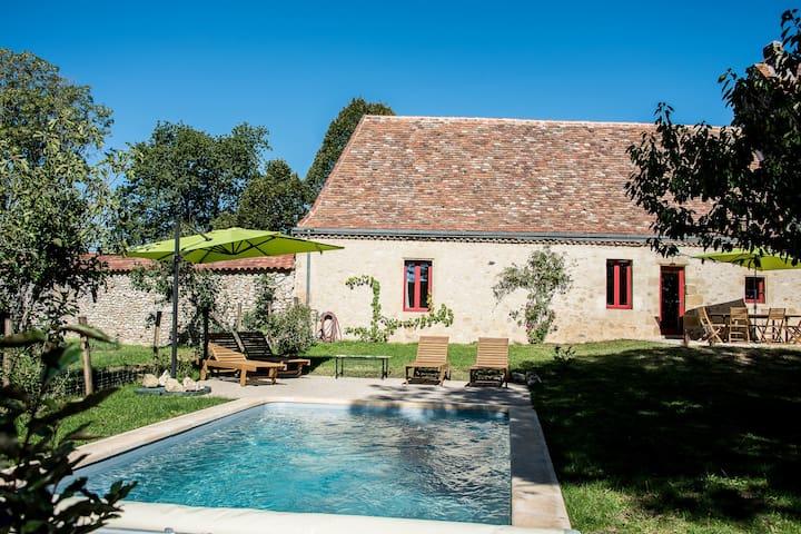 Cottage Dordogne with private pool - Pontours - Jordhus