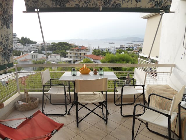 Cozy apartment with sea view! - Saronida