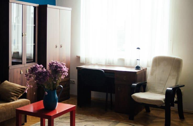 Cosy studio flat 15m to Main Square /no kitchen/ - Cracovie - Appartement