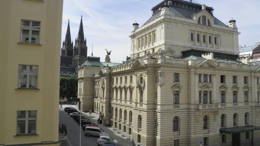 Room in Prague #1 - Best location+ Balconyview - Praha - Huoneisto
