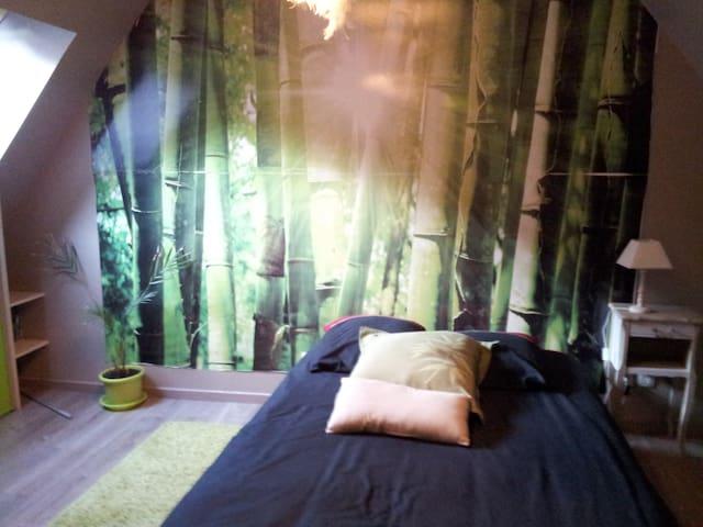 chambre avec sa salle de bain + PDJ - Gouvieux - Bed & Breakfast