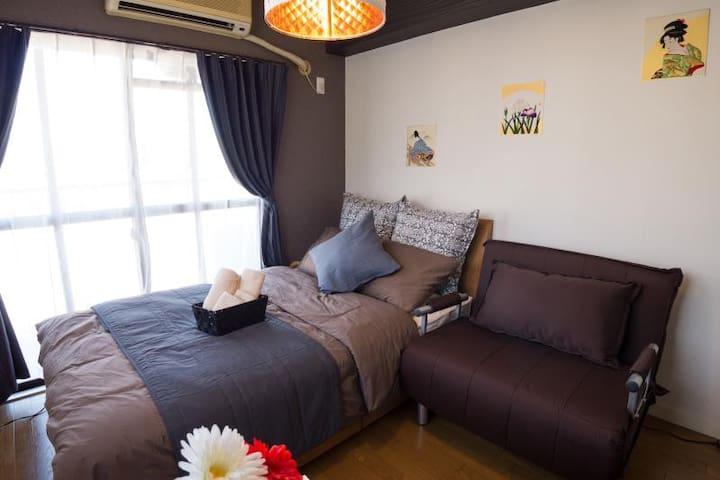 Sweet room in ninomiya of KOBE- 5min Sannomiya(JR) - Chūō-ku, Kōbe-shi - Appartement
