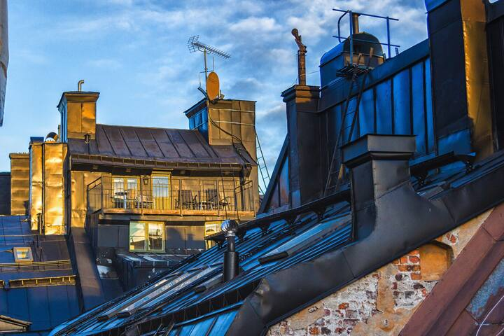 Old Town Rooftop Penthouse - Estocolmo - Departamento