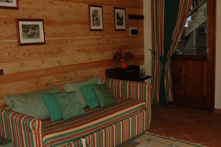 Appartamento bilocale 5 posti wellness - Brusson - Apartemen