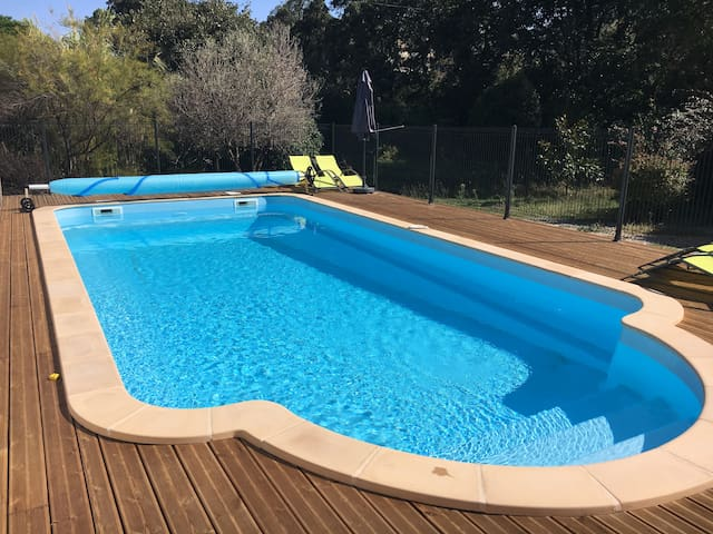 Open plan apartment close to beaches with pool - Villelongue-Dels-Monts