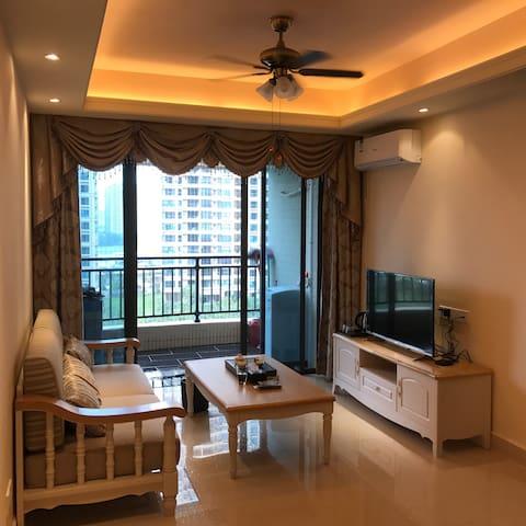 碧桂园十里银滩海悦湾度假公寓,很适合一家人度假,可以做饭 - 惠东 - Lejlighed