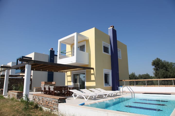 Villa-4,near the beach 'n golf-private pool-garden - Afantou - Huvila