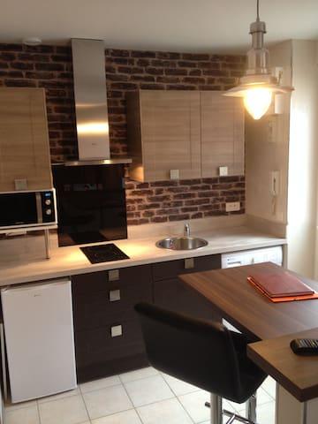 Studio meublé  23m² TB équipé et décoré avec goût - Reims - Apartamento