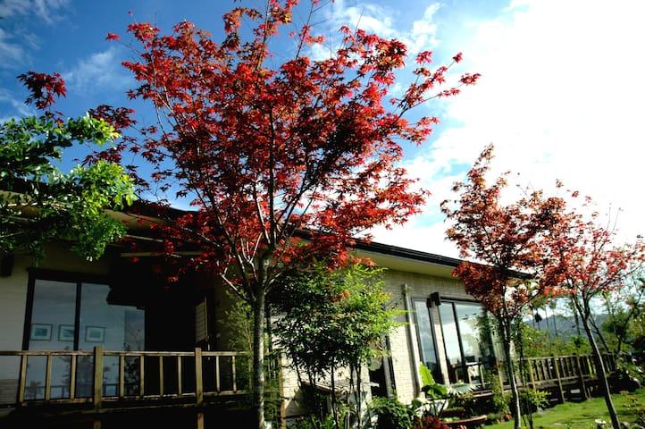 靜廬 (日式雙床,歐式景觀花園,客房超大玻璃景觀窗) - Ruisui Township - Willa