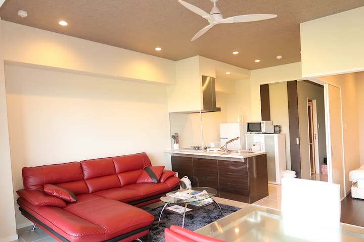 Spectacular view and beach ! New house 6ppl#AS159 - 国頭郡 - Apartemen