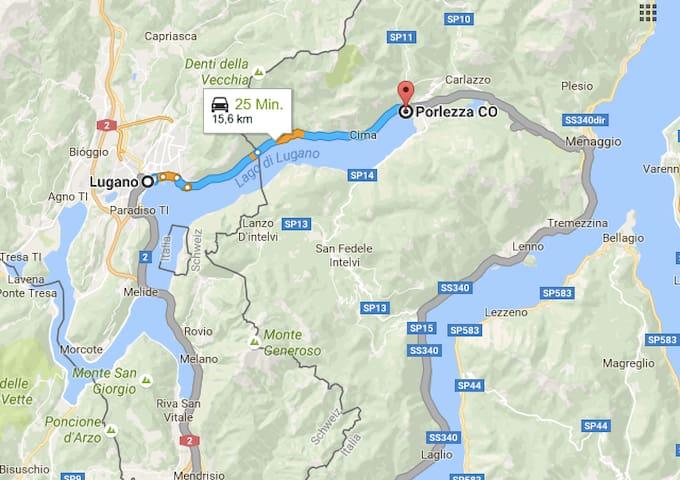 Apartment at Lugano Lake Front Promenade - Porlezza - Apartament