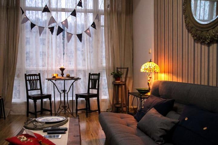 槐香居-市中心一室一厅55平米海派复古公寓 - 大连 - Appartement