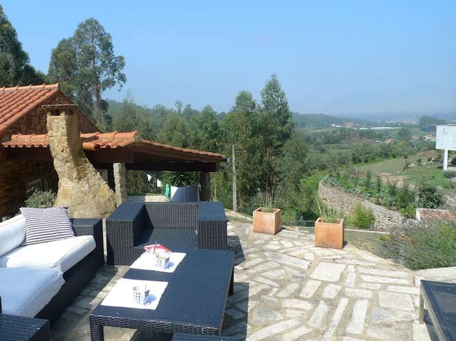 Villa with beautiful view & pool - Fragoso - Barcelos