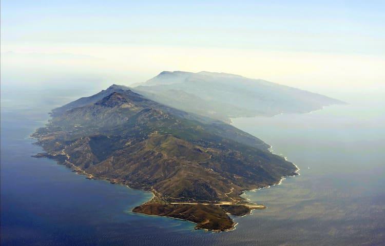 House with beautiful sea view - Agios Kirikos - Casa