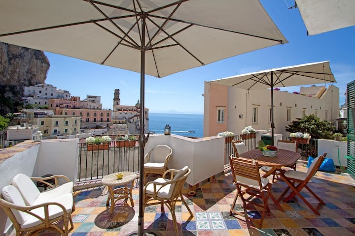 Casa Marina, a terrace on the sea - Atrani - Casa