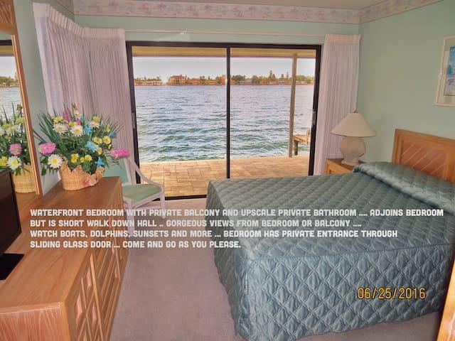 Waterfront bedroom and bathroom. - Tierra Verde