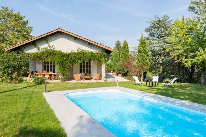 Studio au calme avec terrasse, jardin et piscine - Saint-Cyr-sur-le-Rhône - Hus