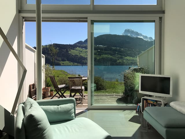by the lake - Brunnen SZ - Apartment