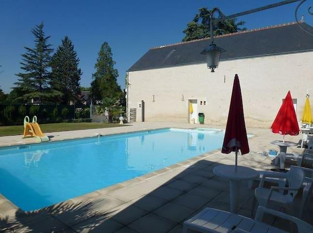 2-bedroom Loire Valley flat w/pool - Chisseaux - Apartamento