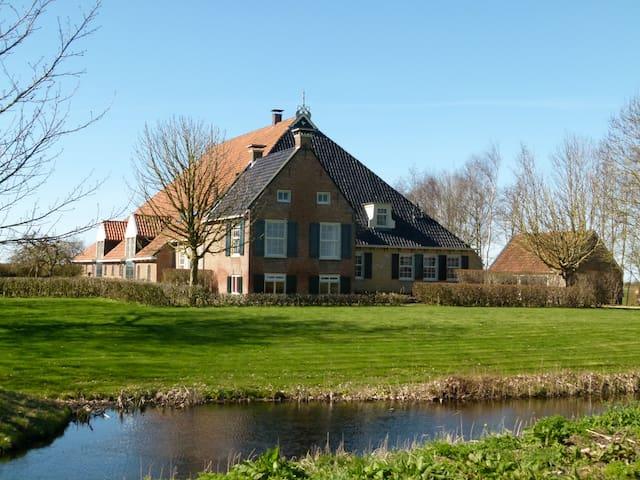 Imposante Friese boerderij met haven; toplocatie!! - Dijken - Haus