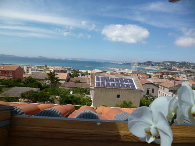 marseille plage ,borely ,vue mer - Marseille
